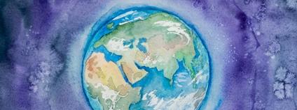 Ilustrace planety Země Foto: Elena Mozhvilo Unsplash