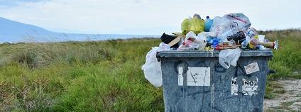 Kontejner plný odpadků Foto: phys.org