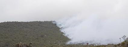 Požár na Kilimandžáru Foto: Tanzania National Parks Twitter.com
