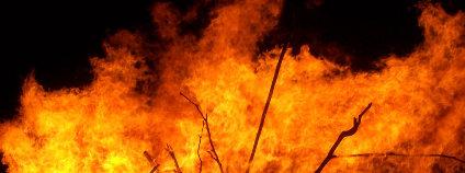 Požár lesa Foto: Fir0002 Wikimedia Commons