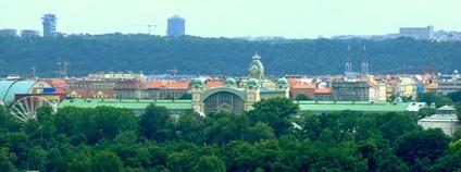 Pražské výstaviště na historickém snímku Foto: Aktron Wikimedia Commons