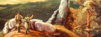 Robert Krumer: Dva poutníci (v kraji Labských pískovců)