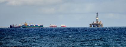 Ropná plošina u Kanárských ostrovů