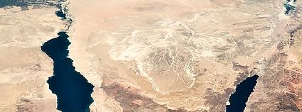 Sinajský poloostrov Foto: NASA