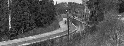 Spirův kanál na historickém snímku Foto: loucovice-historie.cz