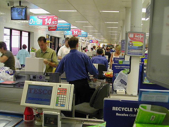 Supermarket Tesco v britském Northamptonu