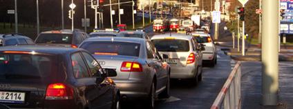 Ranní dopravní zácpa