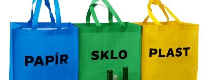 Tašky na tříděný odpad. Foto: ASOMPO
