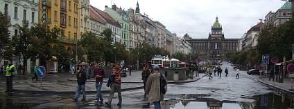 Václavské náměstí během Dne bez aut. Foto: Hugo Charvát/Ekolist.cz