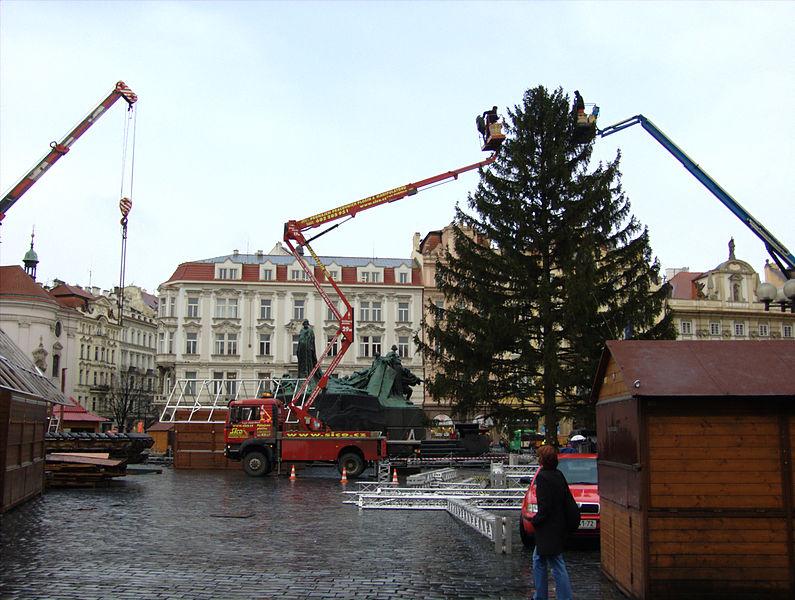 Hledá se vánoční strom na pražské Staroměstské náměstí