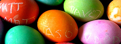 Velikonoční vajíčka. Foto: NaJina McEnany/Wikimeda Commons