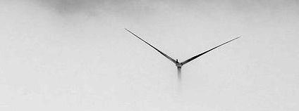 Větrná elektrárna v mlze Foto: EmmaLeP Flickr