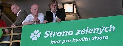 Zelení při sledování volebních výsledků v roce 2006.