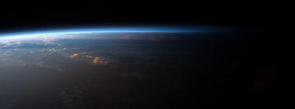 Západ Slunce nad Jižní Amerikou