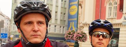 Ministr Bárta na cyklovýletě Prahou. Foto: Martin Mach Ondřej/Ekolist.cz
