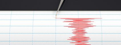 Záznam zemětřesení na seismografu Foto: Cico Shutterstock