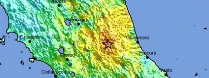 Zemětřesení v Itálii, 2016 Foto: USGC